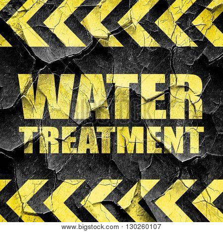 water treatment, black and yellow rough hazard stripes