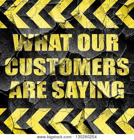 what our customers are saying, black and yellow rough hazard str