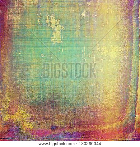 Grunge retro composition, textured vintage background. With different color patterns: yellow (beige); green; blue; red (orange); purple (violet); pink