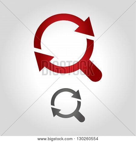 zoom logo icon vector illustration design icon shape