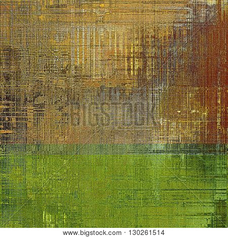 Old grungy stylish composition, vintage texture with different color patterns: yellow (beige); brown; gray; red (orange)