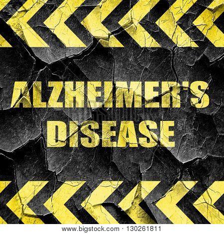 Alzheimer's disease background, black and yellow rough hazard st