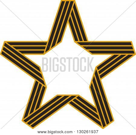 Vector Star of St. George Ribbon Victory symbol