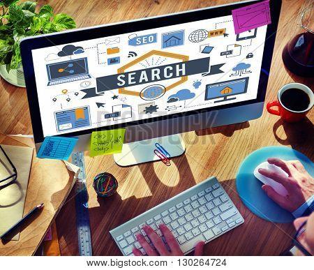 Search SEO Media Internet Connection Concept