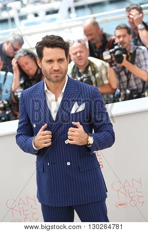 Edgar Ramirez  at the photocall for Hands Of Stone at the 69th Festival de Cannes. May 16, 2016  Cannes, France