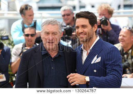 Robert De Niro, Edgar Ramirez  at the photocall for Hands Of Stone at the 69th Festival de Cannes. May 16, 2016  Cannes, France