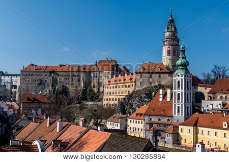 czech republic, city of cesky krumlov, bohemia