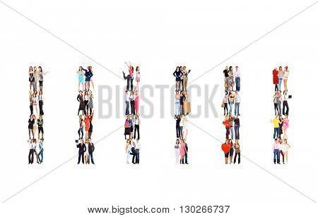 Standing Together Workforce Concept