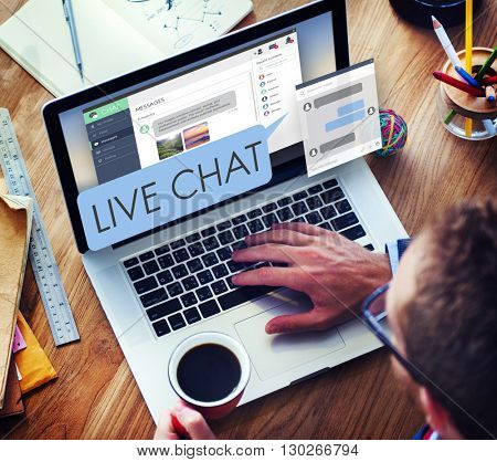 Live Chat Chatting Communication Digital Web Concept