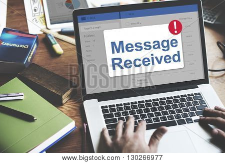 Message Inbox Notification Icon Concept