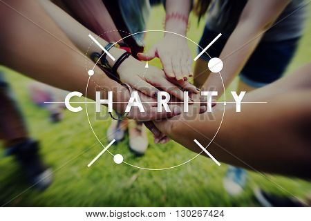 Charity Donations Support Aid Assiting Giving Welfare Concept