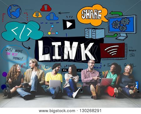 Link Connection Network Technology HTML Concept