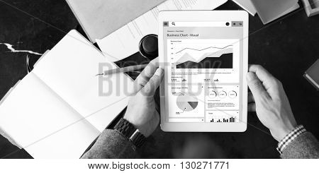 Digital Tablet Connection Internet Networking Online Graph Growth Connection Concept