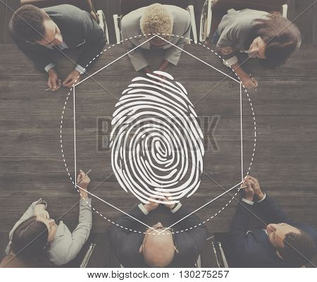 Fingerprint Security Distinction Access Graphic Concept