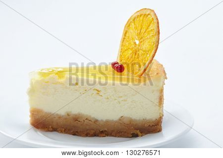 cheesecake with orange