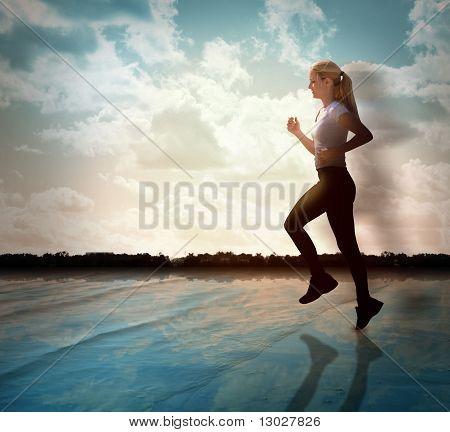 Fitness Exercise Woman Running