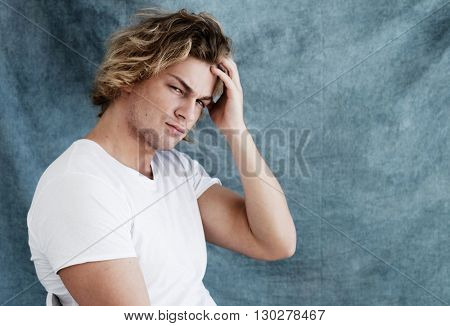 Fashion portrait of young man
