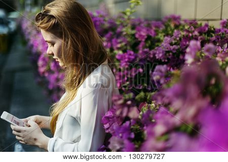 Summer Flower Sunglasses Casual Calm Chilling Concept