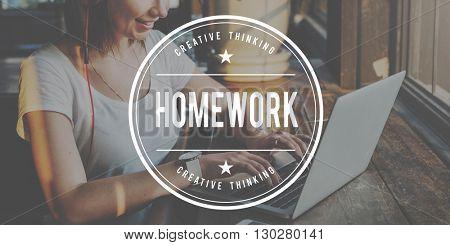 Homework Education Academic Learning Study Concept
