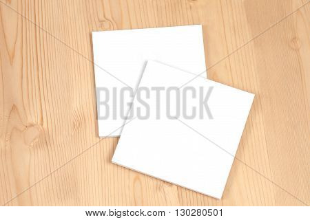 book cover white on wood table set
