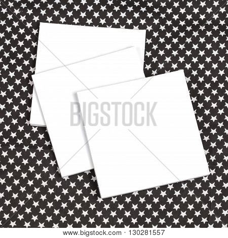 white book cover white on black and white tablecloth