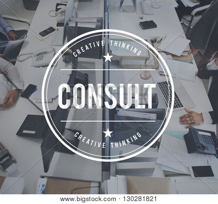 Consult Information Advise Plan Concept