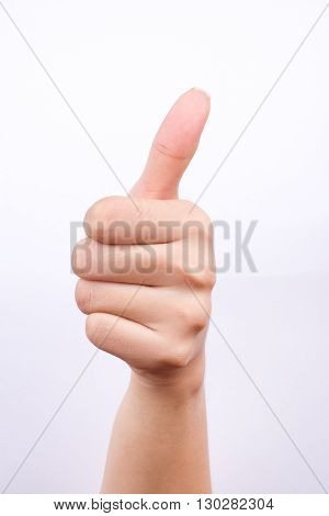 finger hand symbols isolated the concept like button and best excellent good feeling on white background