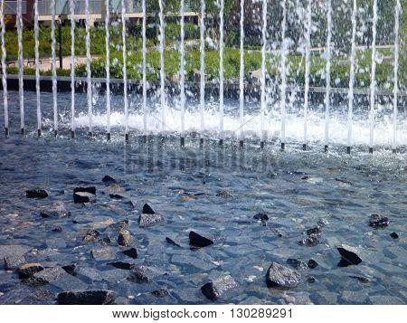 Decorative Fountain In An Urban Surroundings