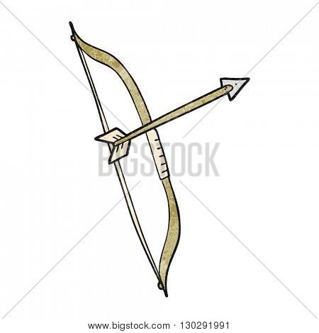 freehand drawn texture cartoon bow and arrow