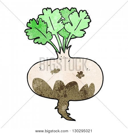 freehand drawn texture cartoon muddy turnip