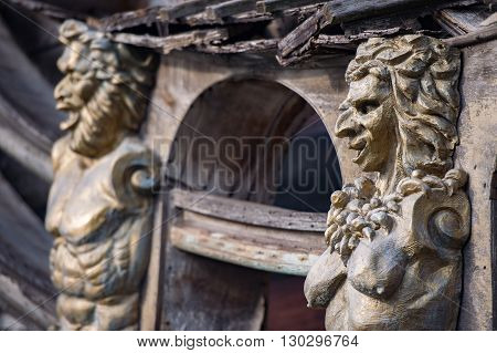 Sculptures And Decoration On Pirate Vessel