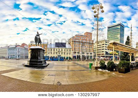 Ban Jelacic square in Zagreb capital of Croatia