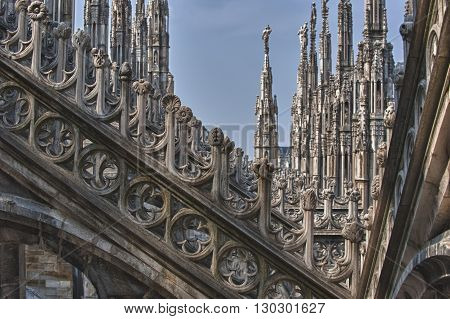 Milan Dome Cathedral Steeples Spires