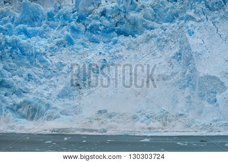 The Hubbard Glacier While Melting, Alaska