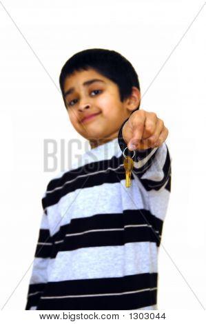 Kid Holding Keys
