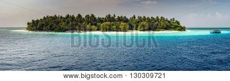 Maldives Tropical Paradise Beach Landscape