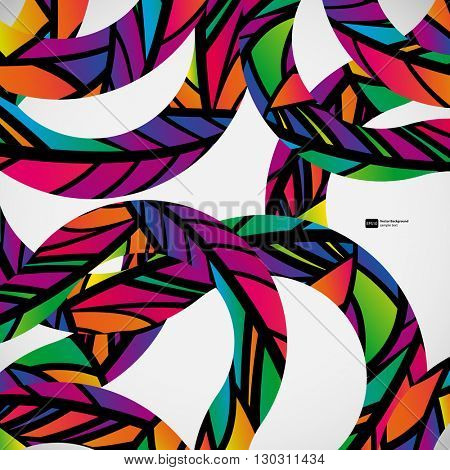 Abstract background with colorful mosaic lines. Creative dynamic elements.