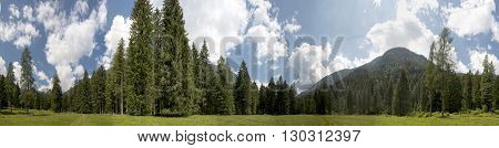 Brenta Valley Trentino Italy huge Panorama landscape