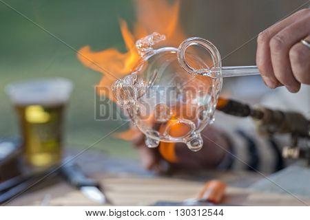 Glass Working Hands
