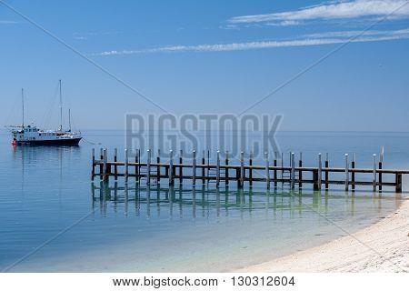 Monkey Mia Pier Crystal Water Sandy Beach Paradise