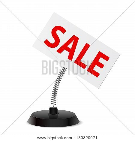 Table souvenir with Sale banner on spring