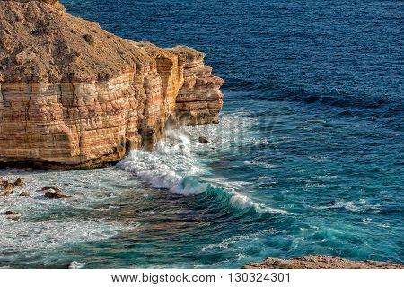 Kalbarri Batavia Coast Cliffs On The Ocean