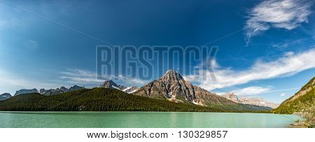 Canada Bow Lake Icefield highway landscape panorma