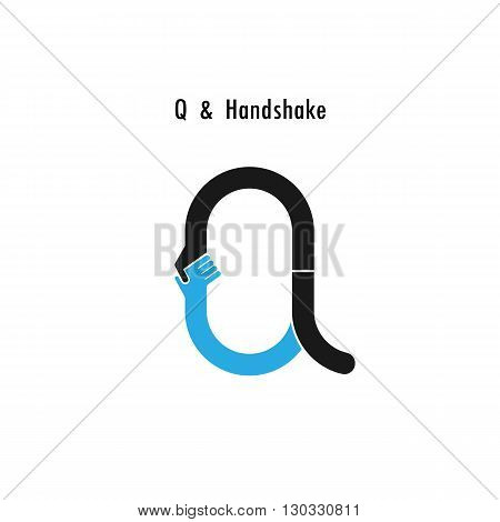 Creative Q- letter icon abstract logo design vector template.Business offerpartnership icon.Corporate business and industrial logotype symbol.Vector illustration