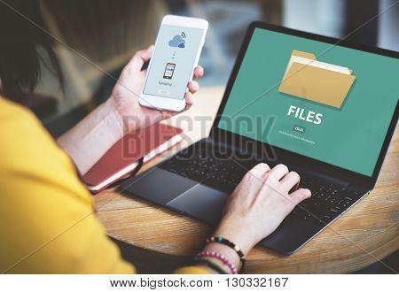 Files Folder Data Document Storage Concept