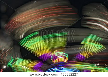 Luna Park Moving Lights Background