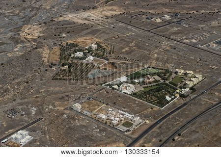 Muscat Arabic Town Aerial View Landcape