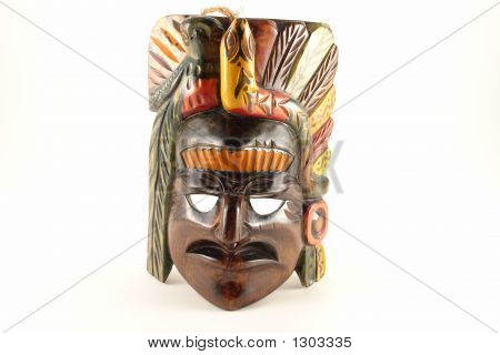 Isolated Indian Mask