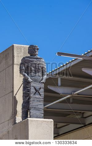 Soweto South Africa 28 March 2016 The Walter Sisulu Square of Dedication. Statue of