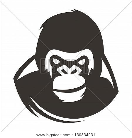 gorilla smiling vector design, suitable for the app icon, print and more